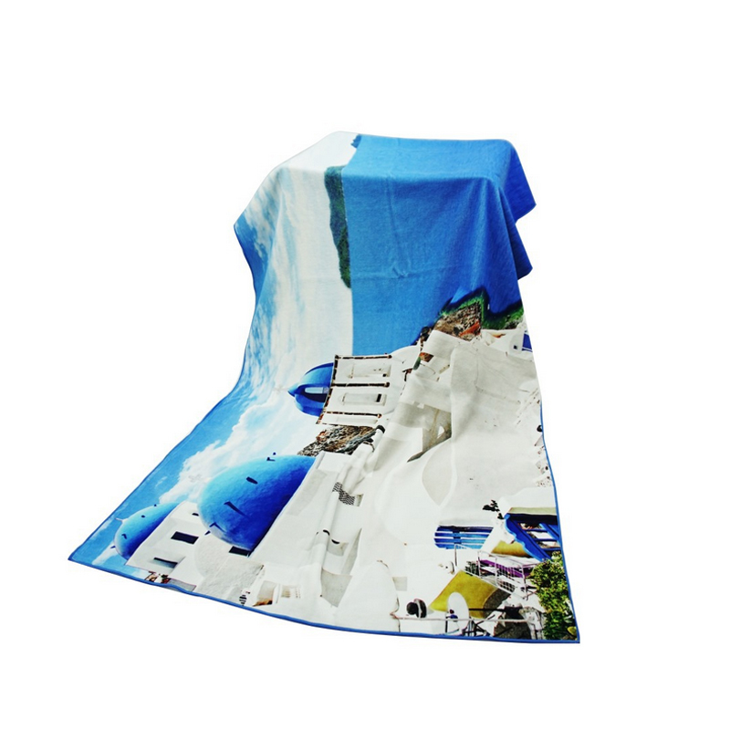Custom Logo Oversized Photo Printed Cotton Terry Towel for Bath