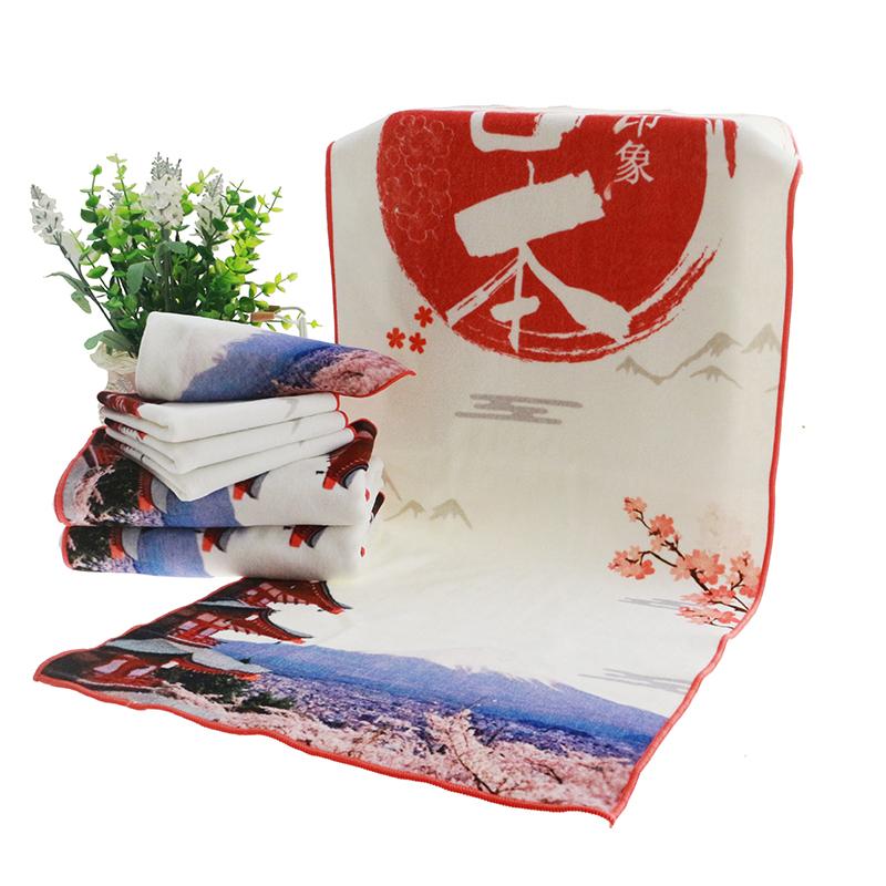 Promotional pool towel with digital printing slogan