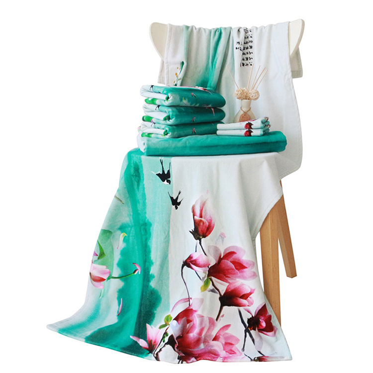 Soft Quick-drying 2021 Top Selling pattern Customized Printed Bath Towel