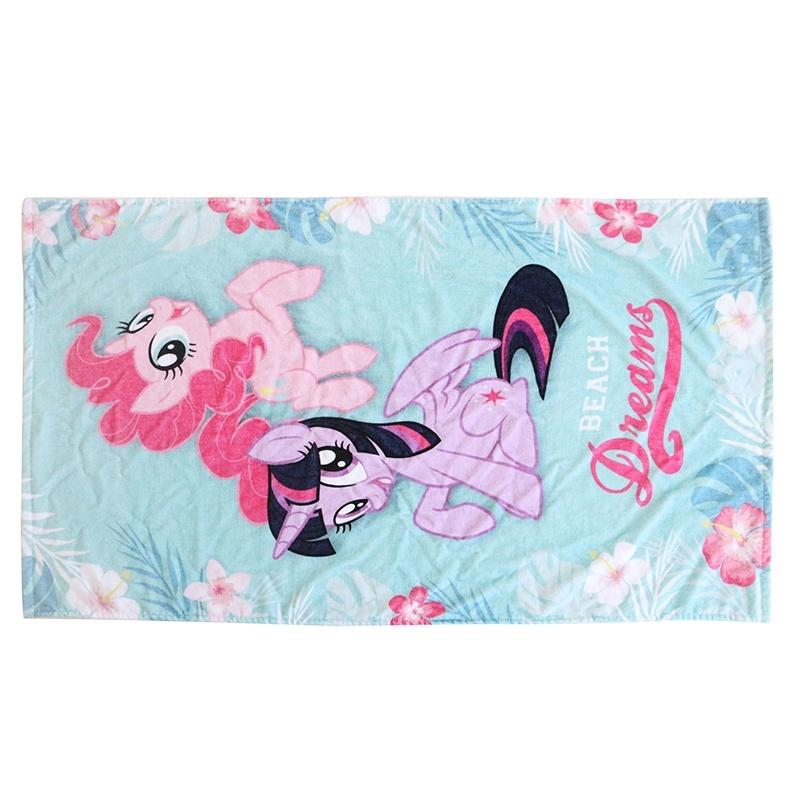 Luxury pink printed bath towel in 100% cotton