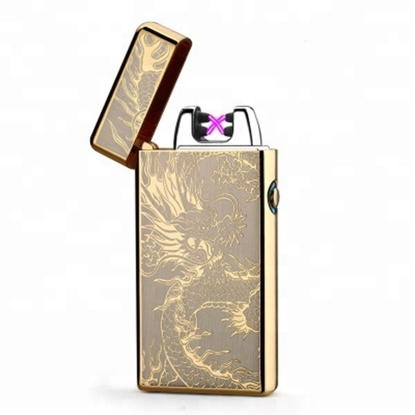 Factory wholesale a+ quality metal rainbow double arc lighter