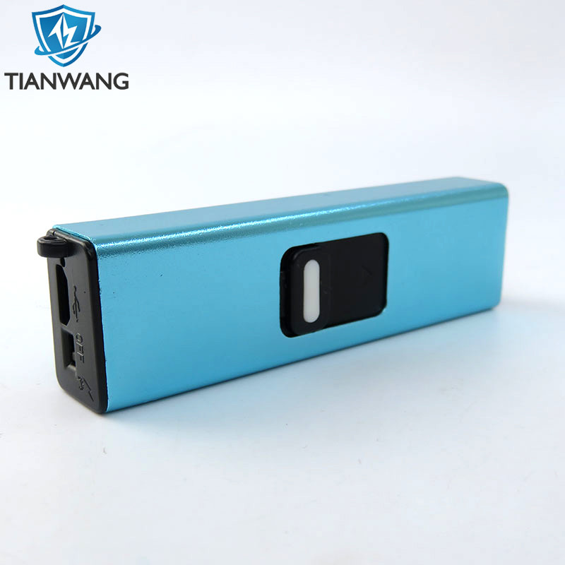 TW-901 Small Usb Rechargeable Electric Plasma Arc Lighter Cigarette with Flashlight