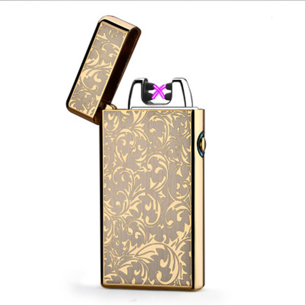 metal zinc alloy ultra thin USB electrical lighters rechargeable,innovative customized electric charged lighter usb