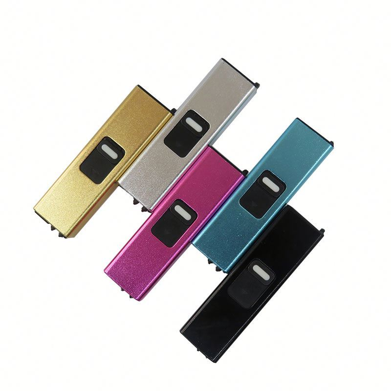 Creative USB Rechargeable Plasma Arc Pulse Metal Electric Lighter