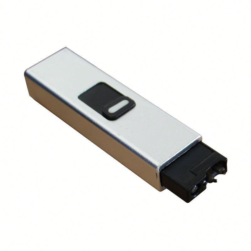 Long Shape Single Arc Lighter Rechargeable USB Lighter Multi-Color Accept OEM Lighter