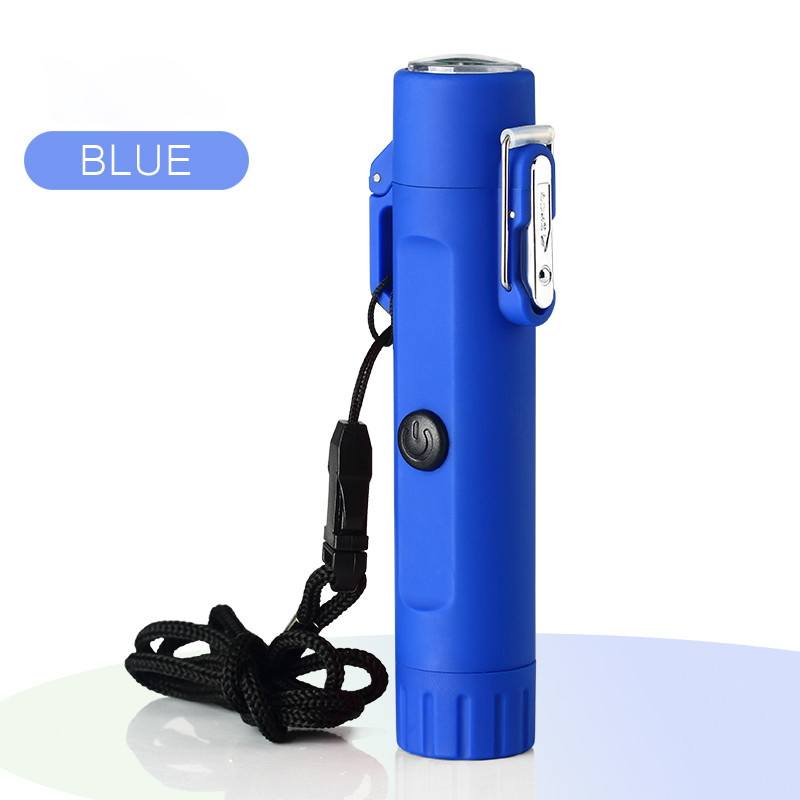Plasma Lighter Windproof Waterproof USB Rechargeable Flameless Dual Arc for Camping Survival Tactical