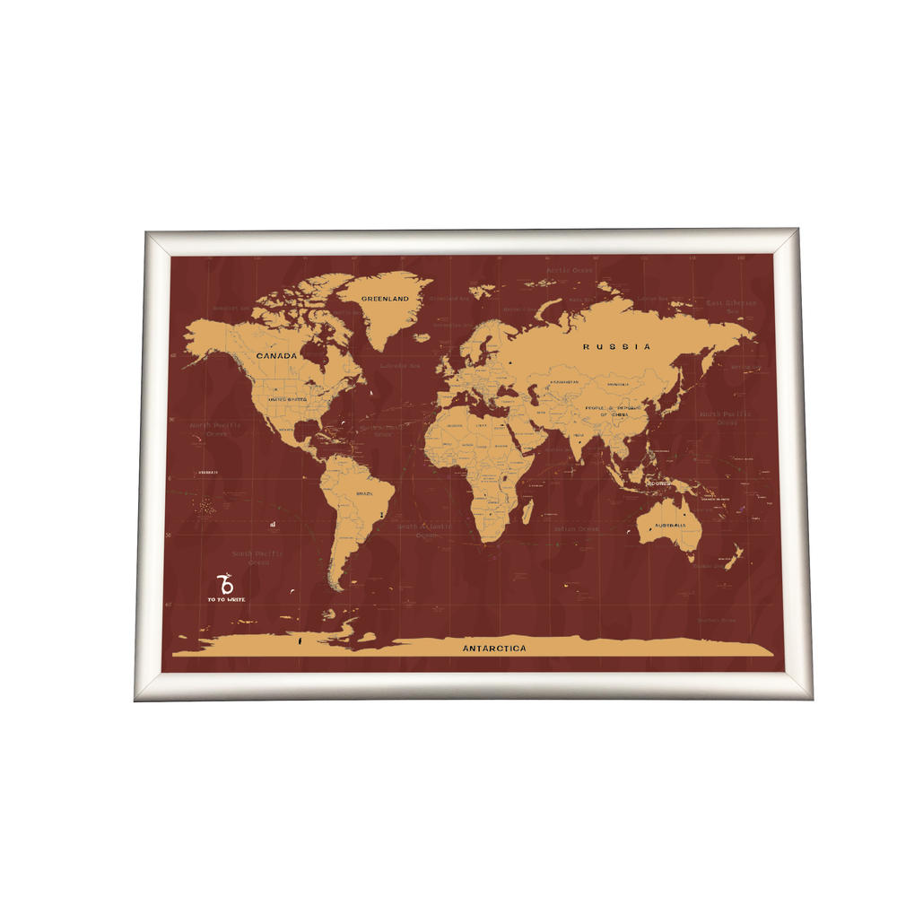 Big Size High End Style Paper Scratch Off World Map Poster To Mark Your Travel
