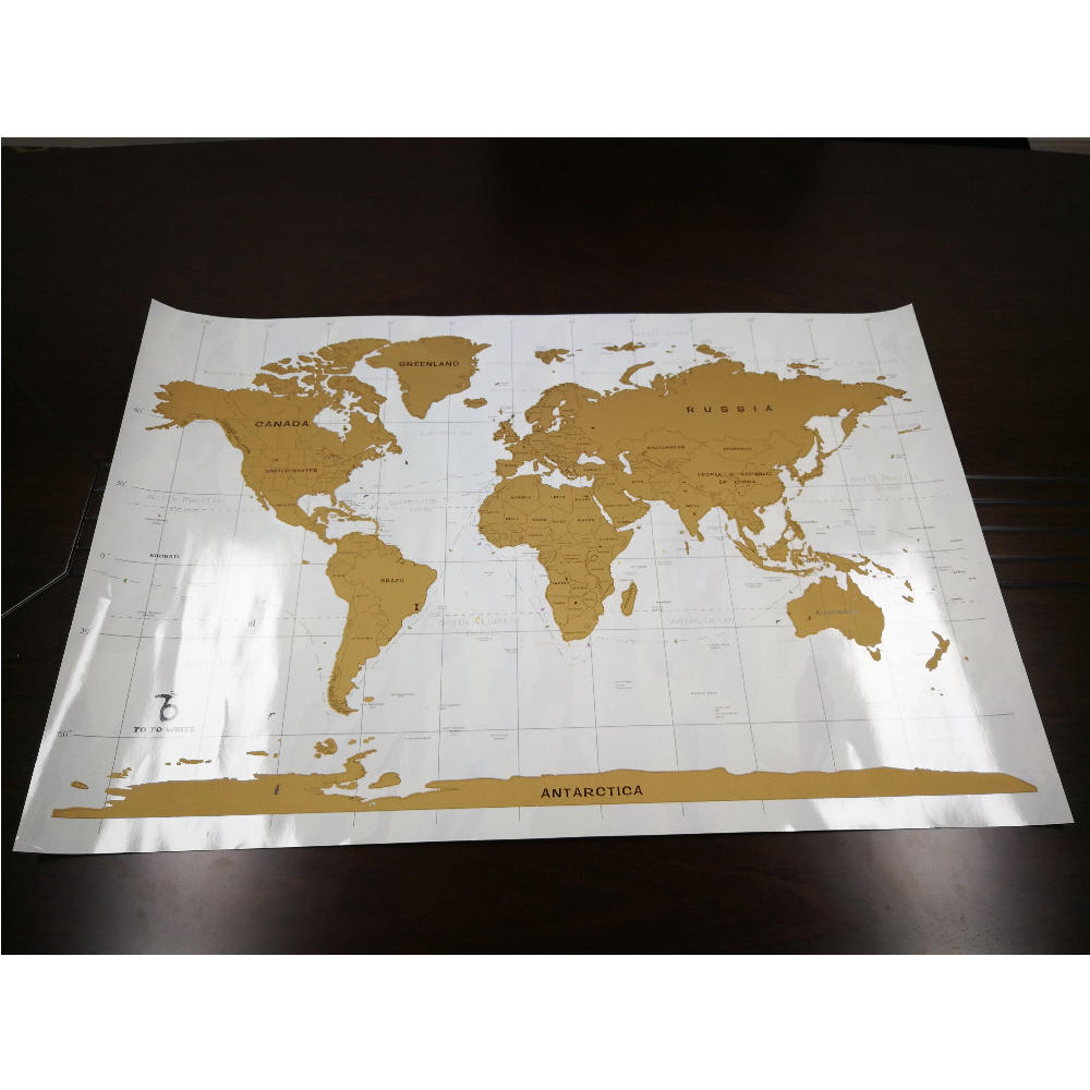 Uncommon Goods Deluxe Edition Scratch Off Europe Map For Travelers