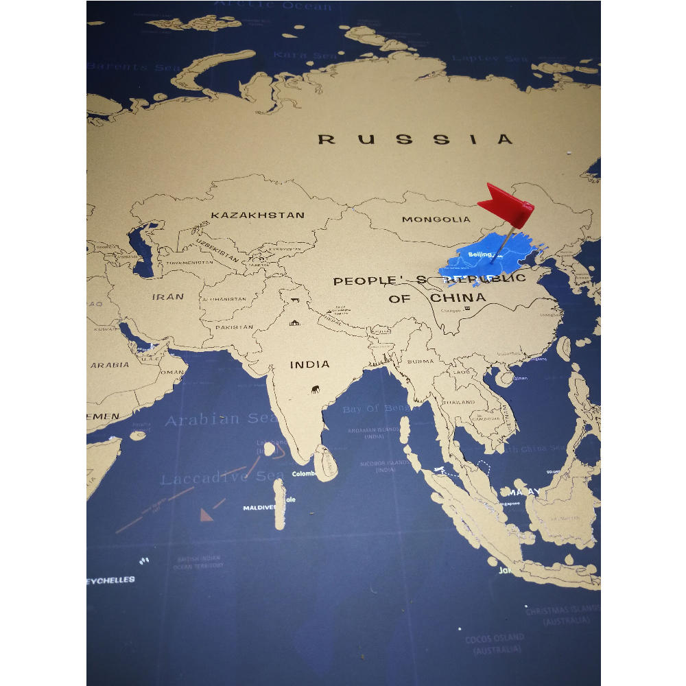 product-Dezheng-To Make Travel Gold Foil Printing Elegant Global World Scratch Off Map-img-1