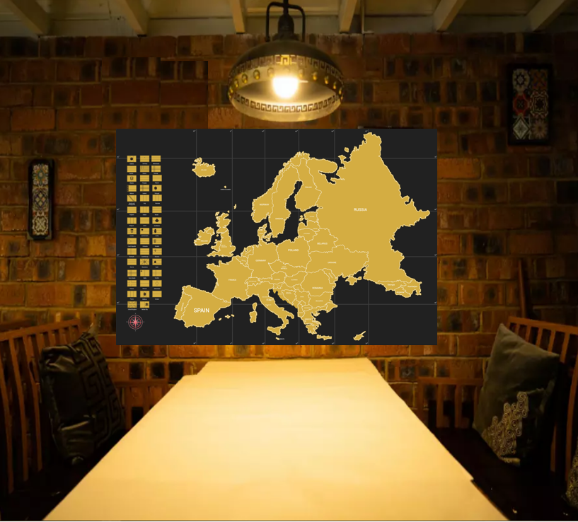 2020 Deluxe Edition Scratch Off Europe Map For Traveler,world map,with flaps with custom logo for FBA