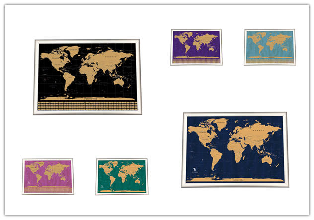 product-Dezheng-Alibaba Online Selling Large Size Gold Color Scratch Off World Map Poster-img-1