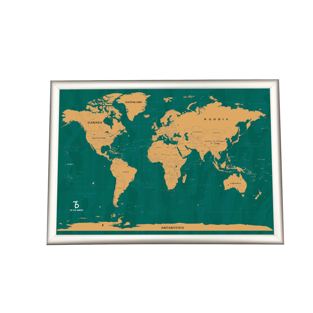 Large 23x33 Inches Deluxe Scratch Off Map Of The United State Of America