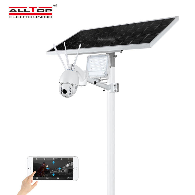 New hot selling product 80W monitor solar led flood light with CCTV camera