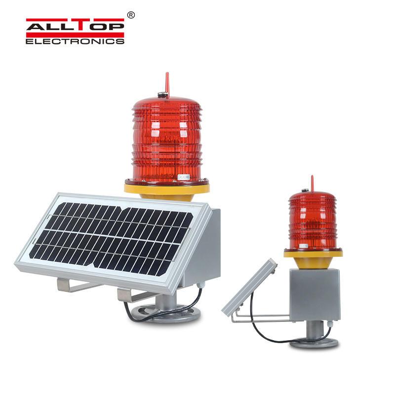 ALLTOP Solar Traffic security prompt Light Road flashing Warning Light Aluminum waterproof warning lamp