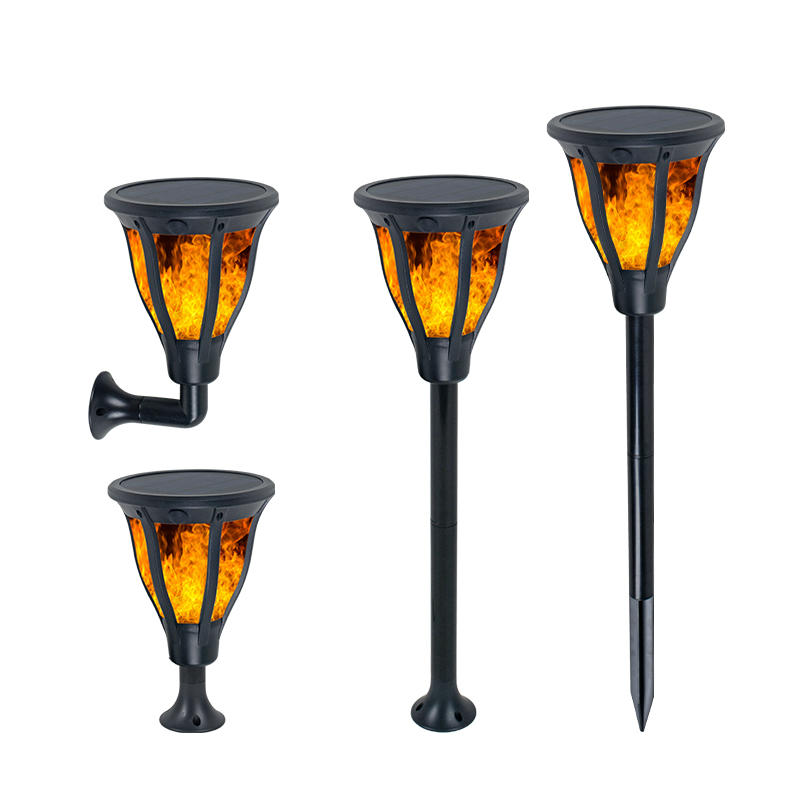 ALLTOP Hot sale ABS housing outdoor park raod lighting 2w ip65 garden Solar Flame Lamp