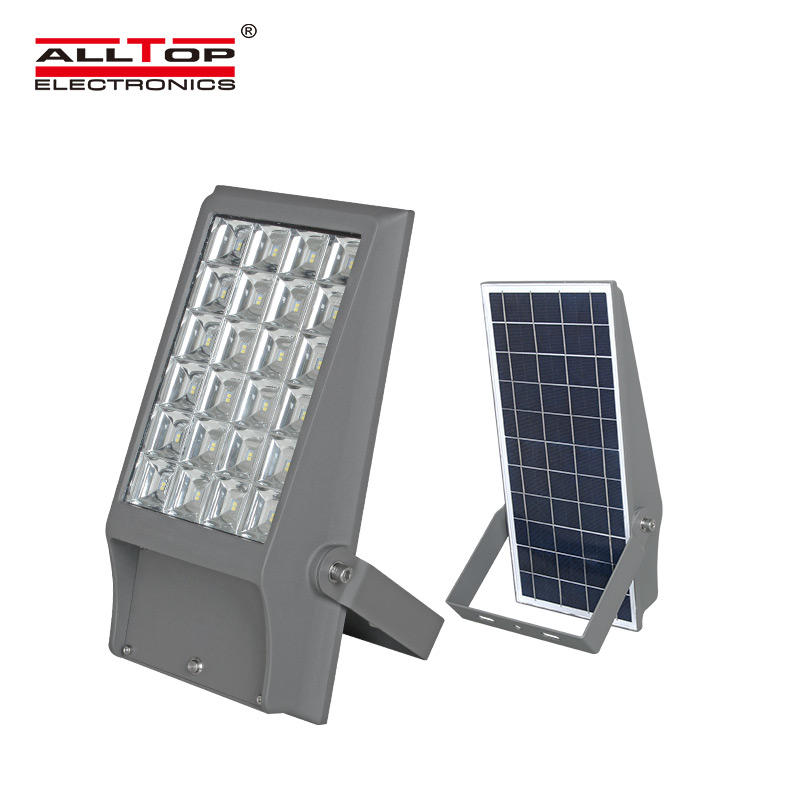 ALLTOP Free sample IP65 Outdoor portable 8w 12w rechargeable solar led floodlight