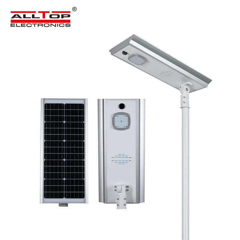 ALLTOP High lumen waterproof outdoor lighting aluminum ip65 smd 50w 100w 150w integrated all in one led solar street light