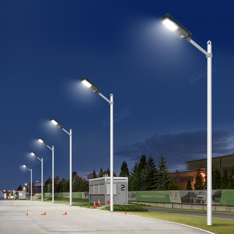 High brightness 200w 300w 450w solar lamp motion sensor integrated all in one outdoor solar led street light