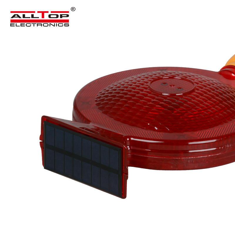 ALLTOP Solar traffic light, portable warning light, traffic cone light
