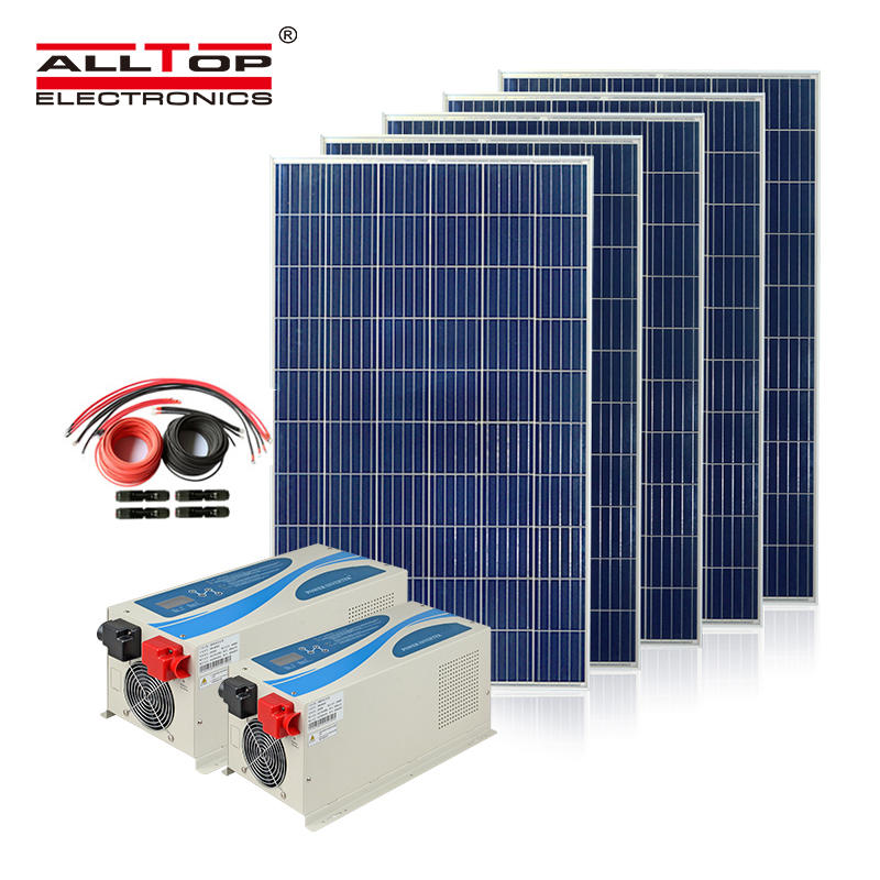 ALLTOP 3KW 5KW Hybrid solar Power system On Grid Intelligent Solar Inverter for Home Use