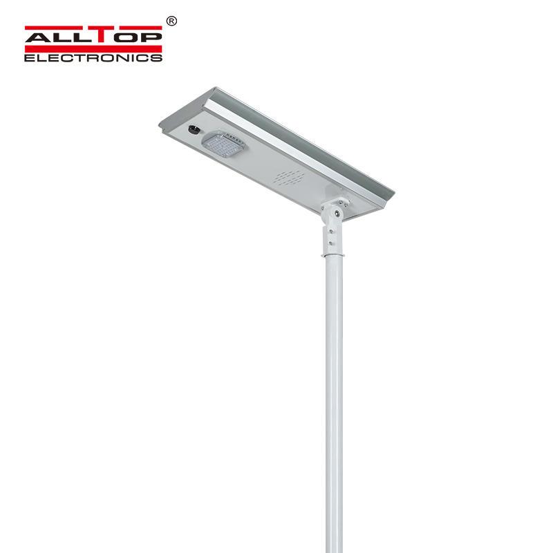 ALLTOP High lumen waterproof outdoor lighting aluminum ip65 smd 50w 100w 150w integrated all in one led solar street light
