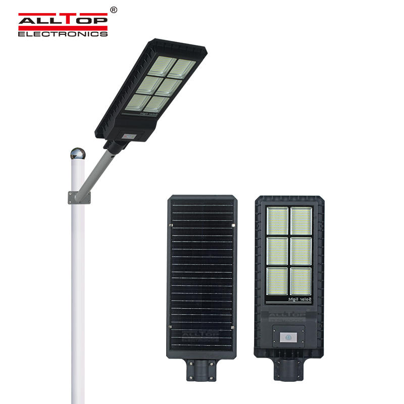 High quality ip65 waterproof MPPT Solar Powered lighting 200 300 450 watt PIR sensor all in one solar Led street light