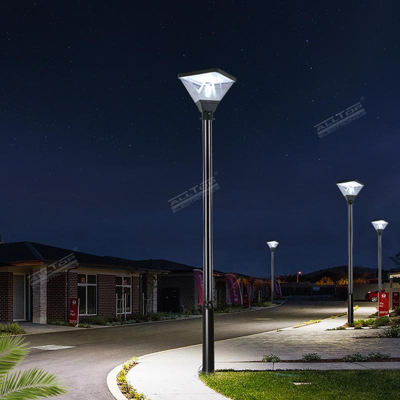 ALLTOP High quality outdoor park road lighting ip65 smd 20w led solar garden light
