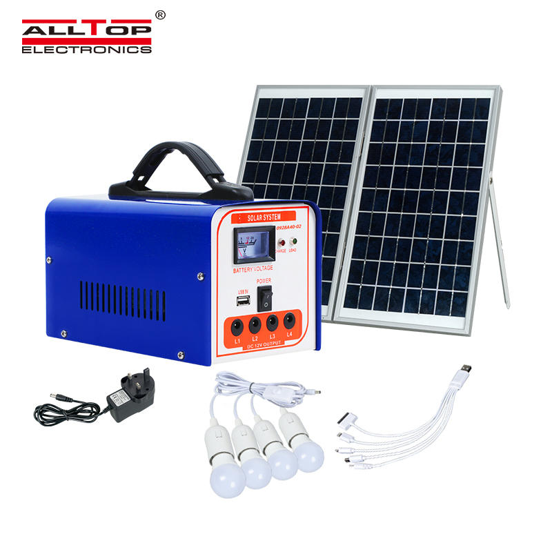 ALLTOP Outdoor Portable Solar Power Home Charging LED Lighting Solar System
