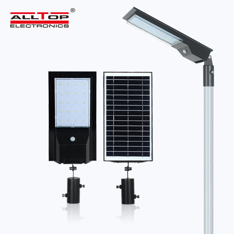 ALLTOP 2020 Newest design outdoor park road lighting ip65 smd 9w 14w led solar street light