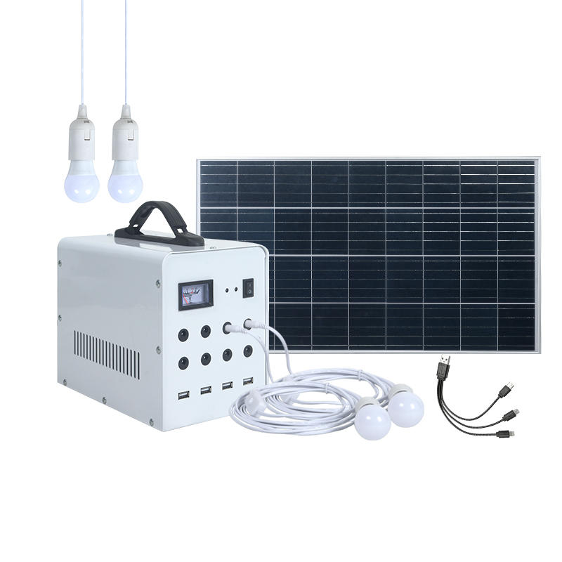 Off grid mounting solar energy power bank 50w mini solar lighting system for home