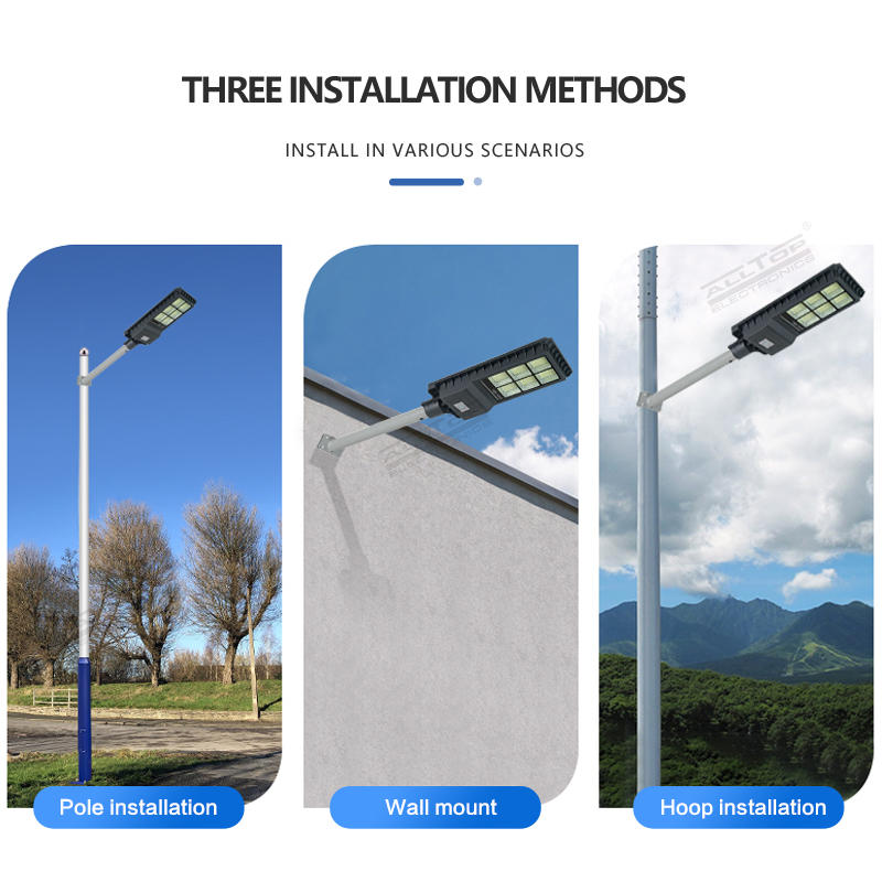 High quality outdoor intelligent sensor IP65 200w 300w 450w integrated all in one led solar street light