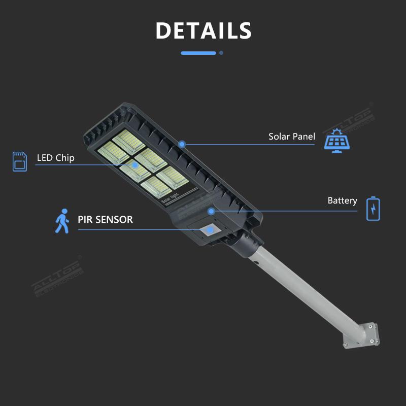 Die-casting aluminum IP65 outdoor waterproof 200 300 450 watt integrated all in one led solar street light