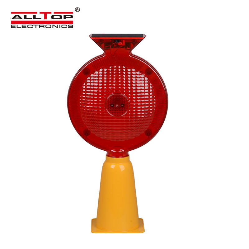 ALLTOP Solar traffic light, portable warning light, traffic cone light