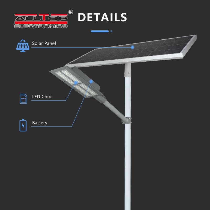ALLTOP High quality outdoor lighting ip65 waterproof solar panel smd 90w led solar street light