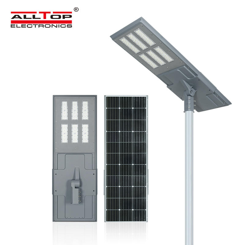 ALLTOP High quality outdoor ip65 waterproof 200w integrated all in one led solar street light