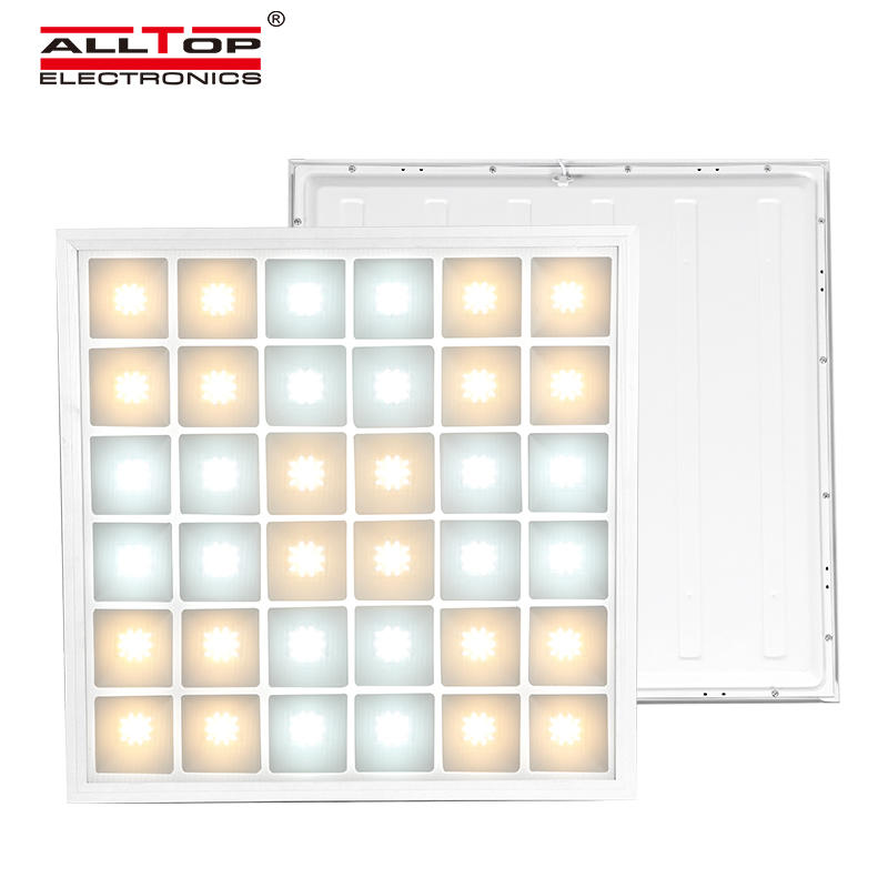 ALLTOP High lumen two color temperature 3000k 6000k smd 48watt recessed square led panel light