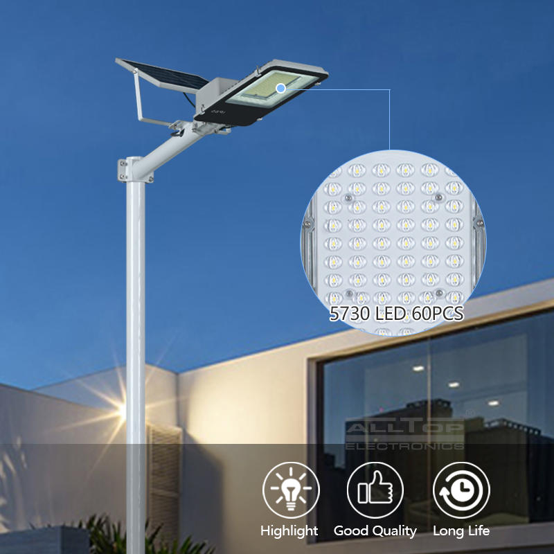 ALLTOP High performance ip65 waterproof remote control 200w integrated LED Solar Street Light