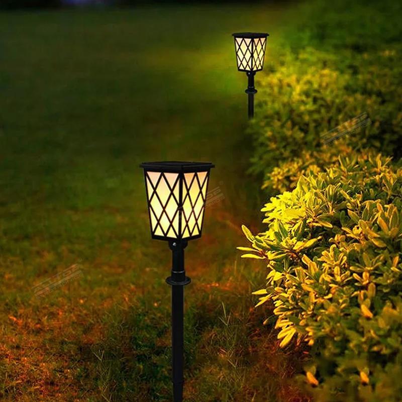 ALLTOP Waterproof Solar Powered Outdoor garden lighting Solar flickering flames torch light for security path light