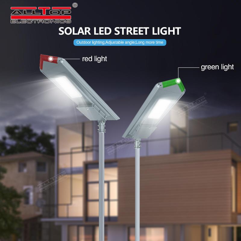 ALLTOP High lumen bridgelux smd outdoor waterproof ip65 150w integrated all in one solar led street light