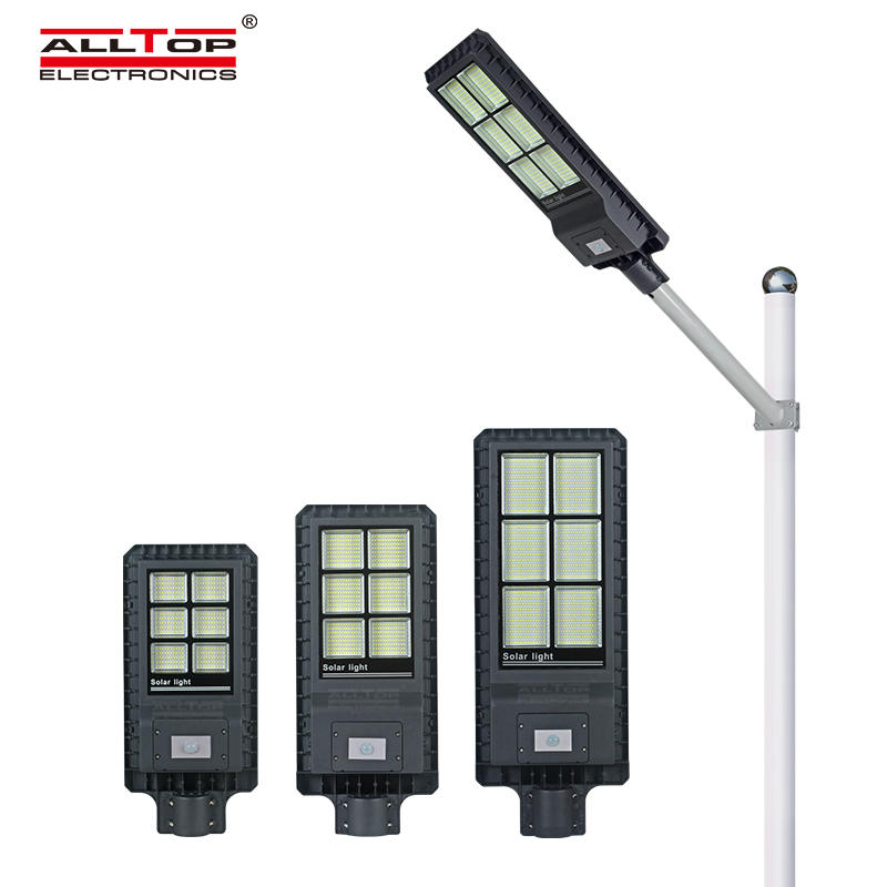 Energy Saving outdoor lighting smd Ip65 aluminium alloy 200w 300w 450w All In One Led Solar Street Light