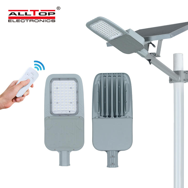 ALLTOP High power remote control outdoor lighting ip65 30w 60w led solar street light