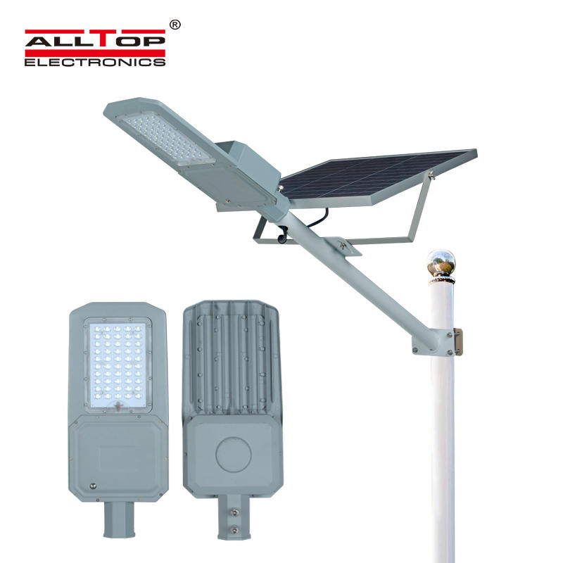 ALLTOP High quality outdoor lighting ip65 waterproof smd 50watt led solar street lamp