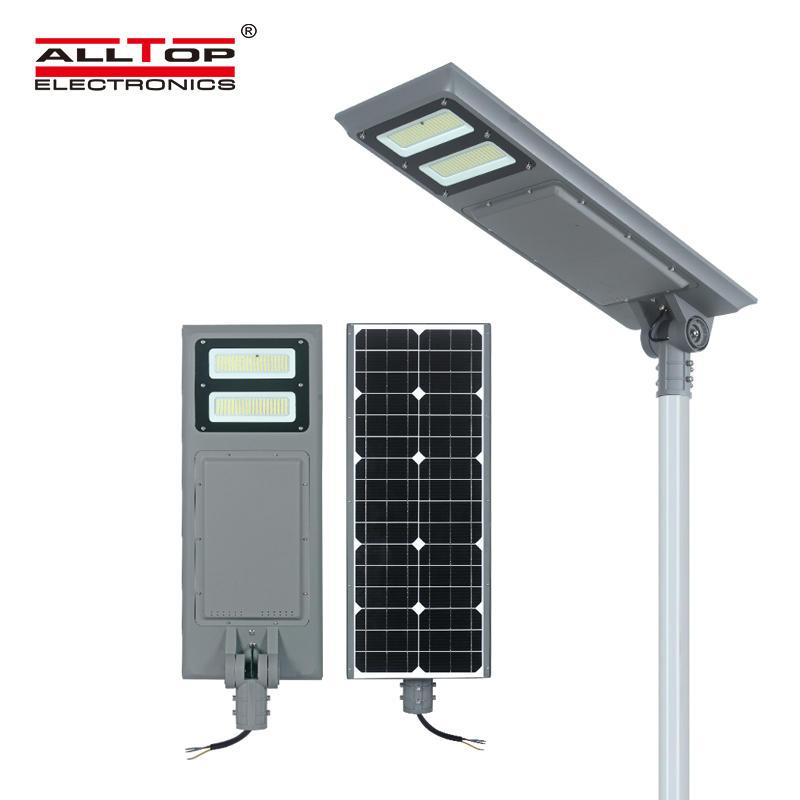 ALLTOP High lumen 100w ip65 waterproof outdoor all in one led solar street light