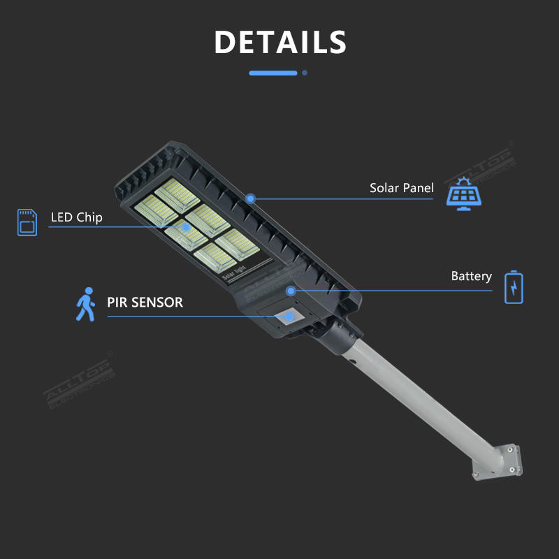 Energy Saving outdoor lighting smd Ip65 aluminium alloy 200w 300w 450w All In One Led Solar Street Light