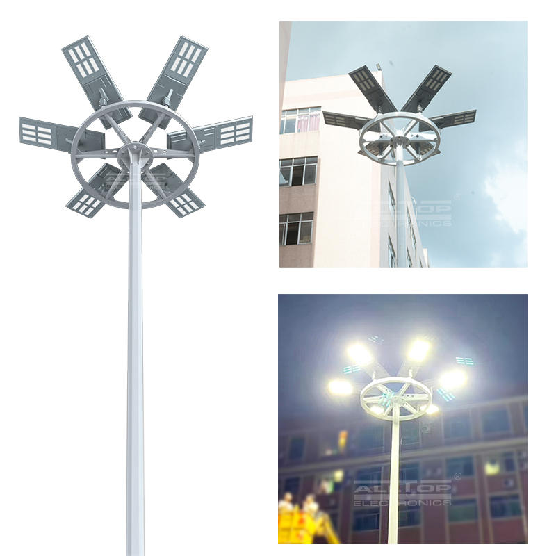 ALLTOP Hot sale outdoor waterproof aluminum housing ip65 smd 200w integrated all in one solar led high mast light