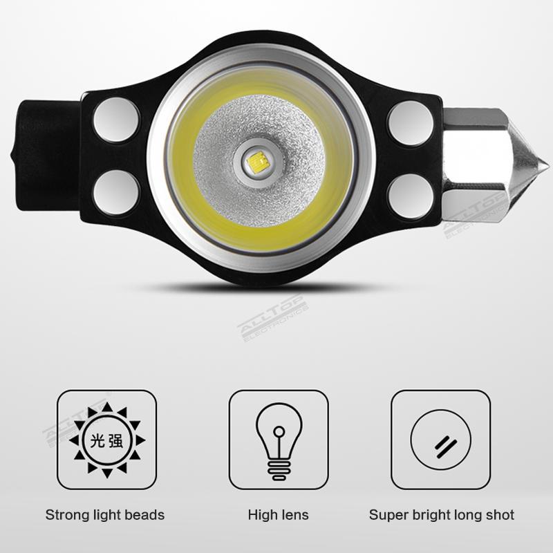 ALLTOP Multipurpose aluminium waterproof camping USB rechargeable solar flashlight