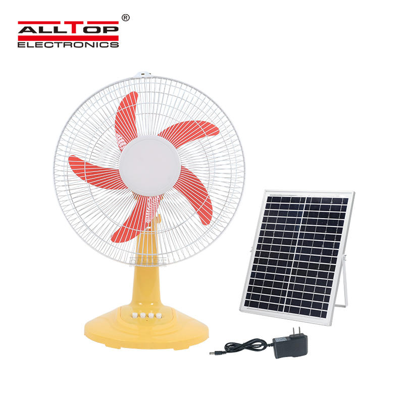 ALLTOP Hot sale high quality motor AC/DC electric three wind speed 16inch solar fan