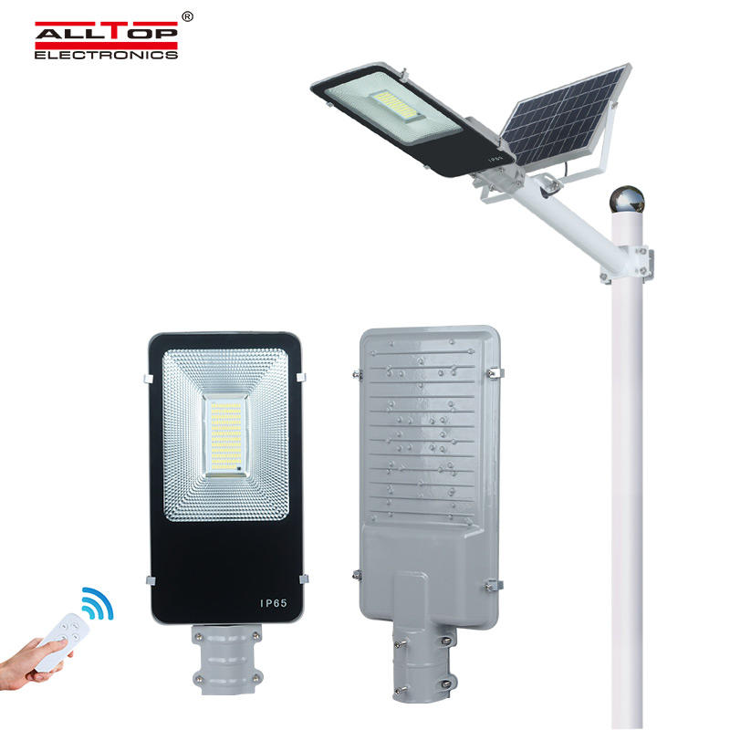 ALLTOP Bridgelux smd waterproof outdoor lighting ip65 100w solar led street light