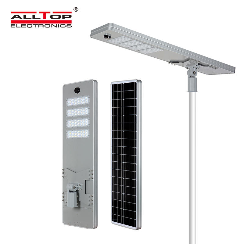 ALLTOP High quality outdoor park building lighting ip65 smd 50w 100w 150w 200w integrated all in one led solar street light