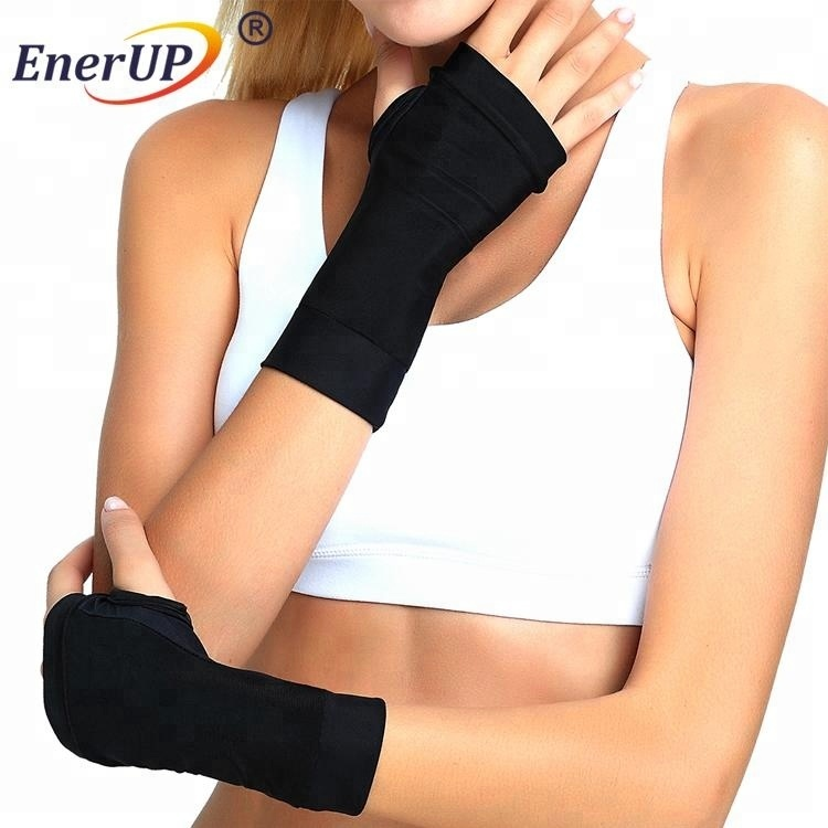 Copper ion infused Compression Wrist Sleeve brace for sports supporter wear